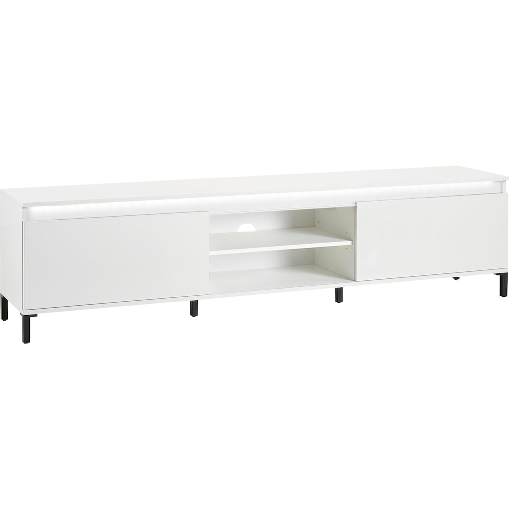 KITALY Lowboard »Genio«, Breite 200 cm, mit wendbare Blende