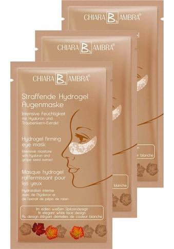 CHIARA AMBRA Augenmaske »Straffende Hydrogel Augenmaske«, (3 tlg.) kaufen