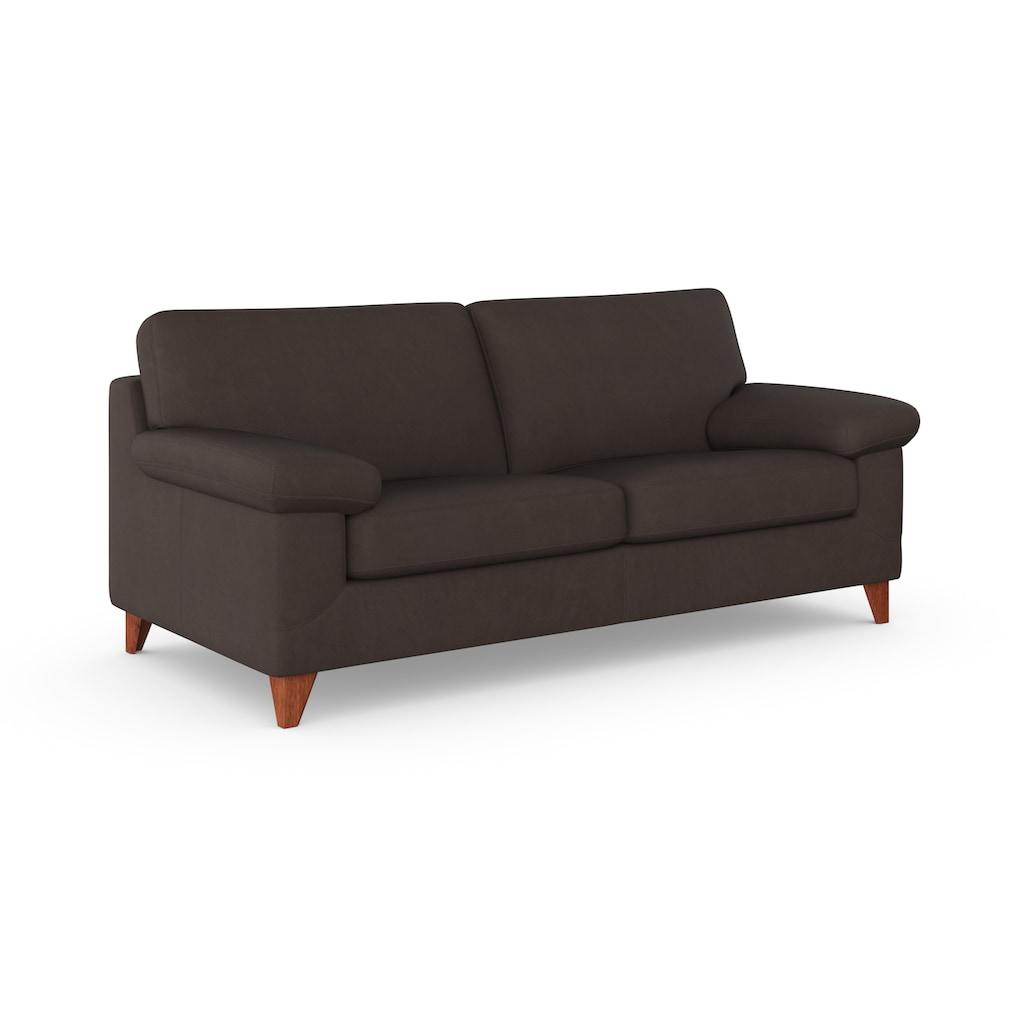 machalke® 2,5-Sitzer »diego«, mit weichen Armlehnen, Füße wengefarben, Breite 195 cm, mit GRATIS Ledertasche