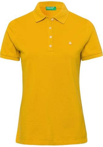 United Colors of Benetton Poloshirt, mit dezenter Logostickerei kaufen