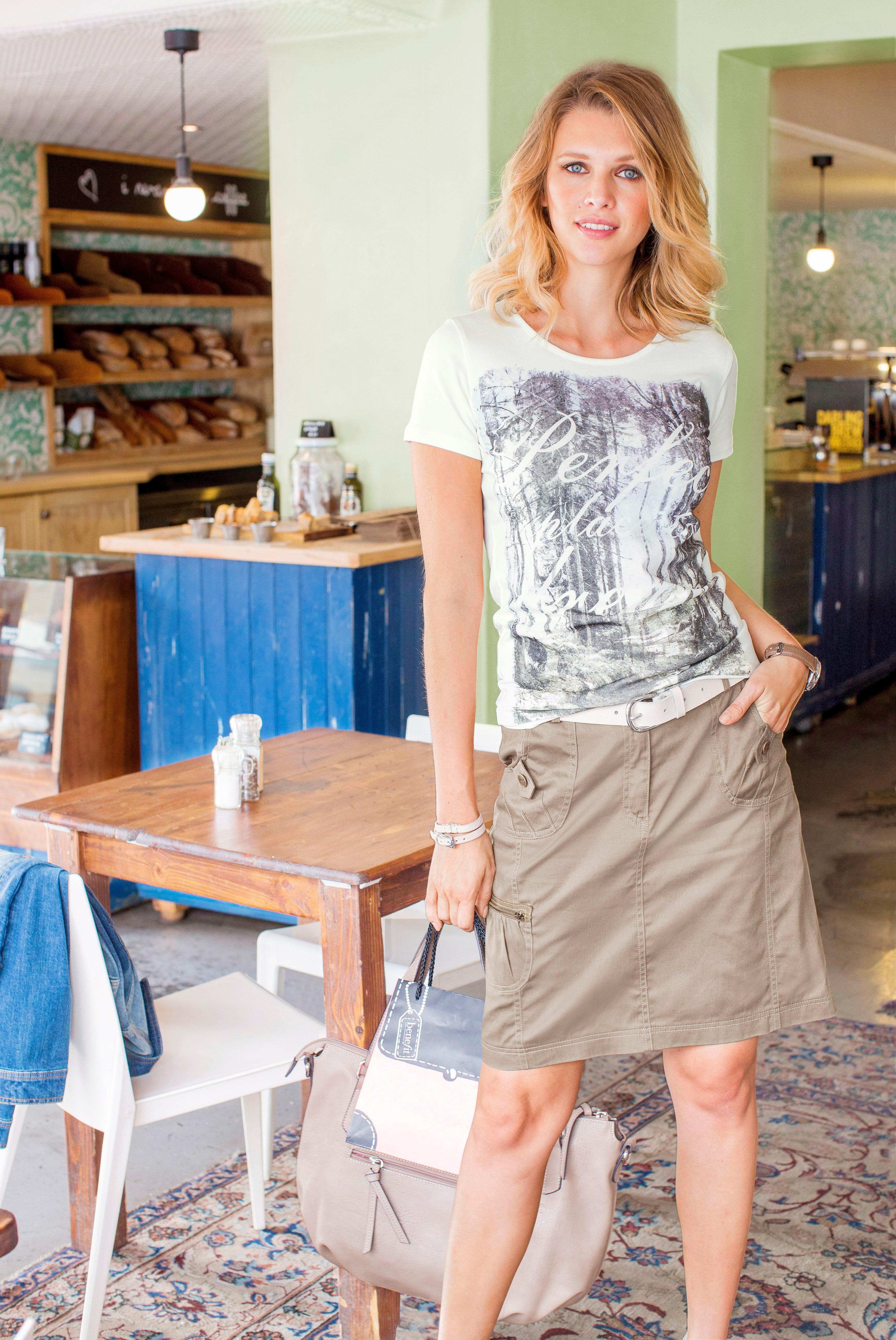 Aniston CASUAL Cargorock | Bekleidung > Röcke > Cargoröcke | Beige | Aniston Casual