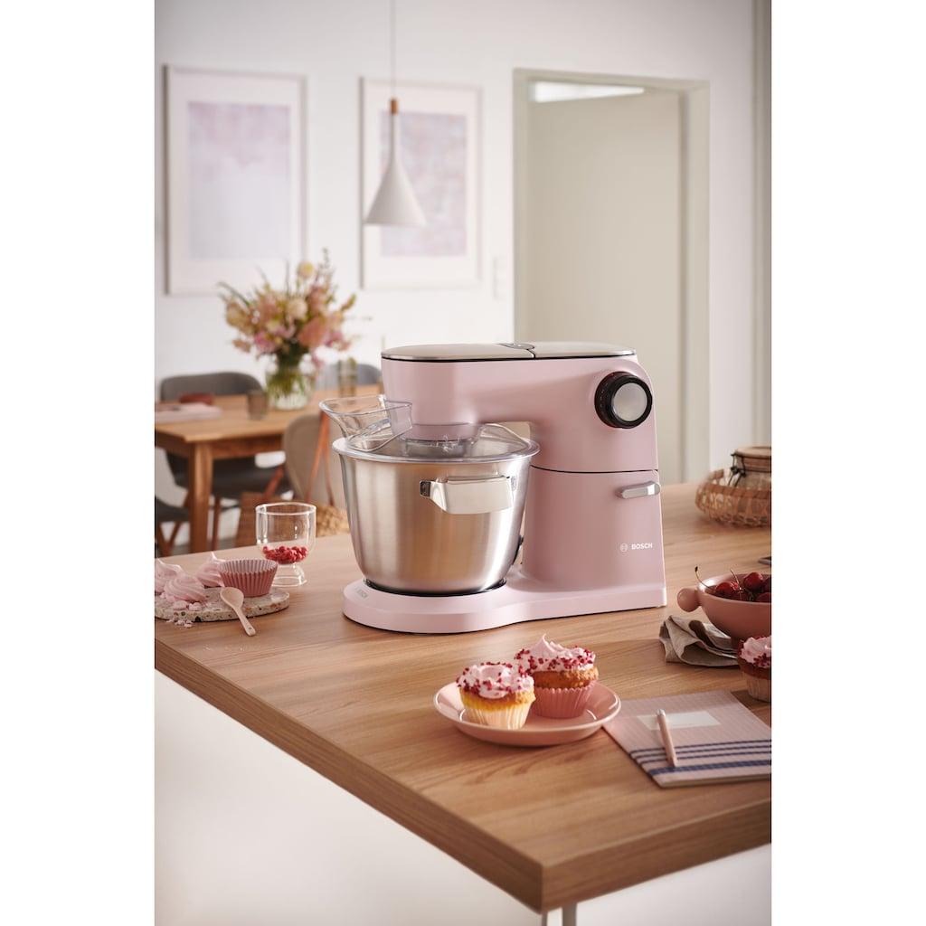 BOSCH Küchenmaschine »MUM9A66N00 OptiMUM«, 1600 W, 5,5 l Schüssel, Profi-Patisserie-Set, Planetenrührwerk, pastelrosé