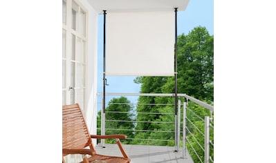 Angerer Freizeitmöbel Klemm-Senkrechtmarkise, beige, BxH: 150x275 cm kaufen