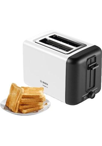 BOSCH Toaster »TAT3P421DE DesignLine«, 2 kurze Schlitze, für 2 Scheiben, 970 W kaufen