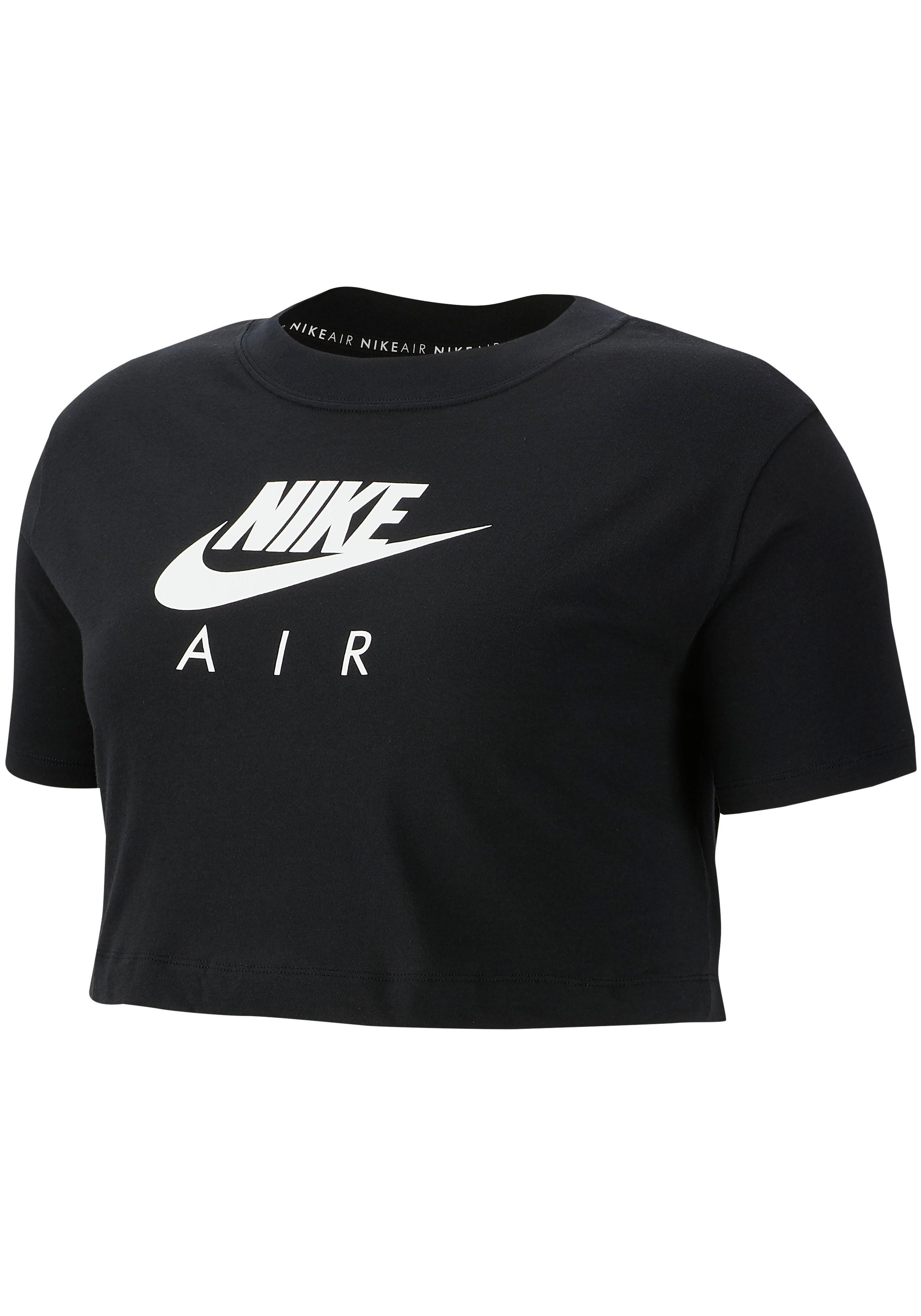 Nike Sportswear T-Shirt WOMEN TOP SHORTSLEEVE PLUS SIZE   Sportbekleidung > Sporthosen > Sportshorts   Schwarz   Nike Sportswear