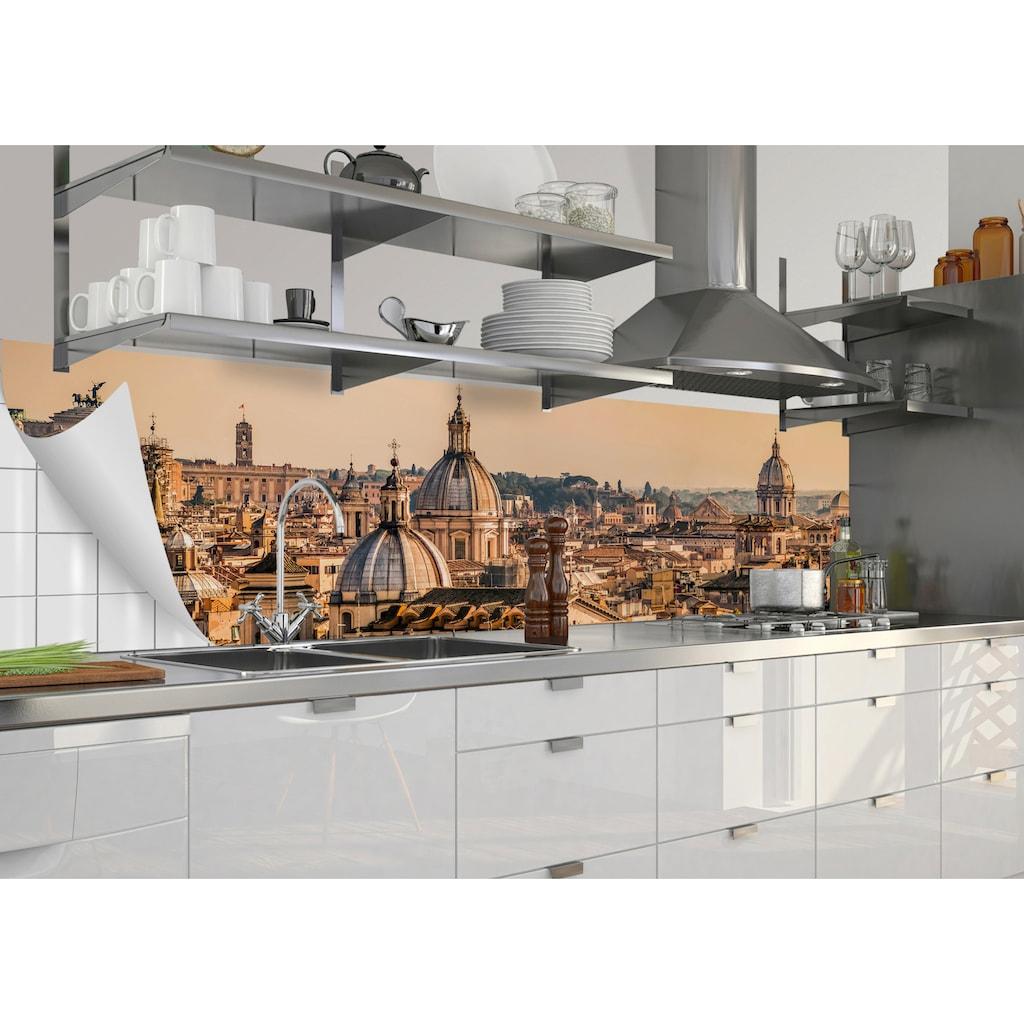 MySpotti Küchenrückwand »fixy Roma«, selbstklebende und flexible Küchenrückwand-Folie