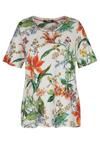 FRAPP T-Shirt, mit geblümtem, buntem Allover-Muster kaufen