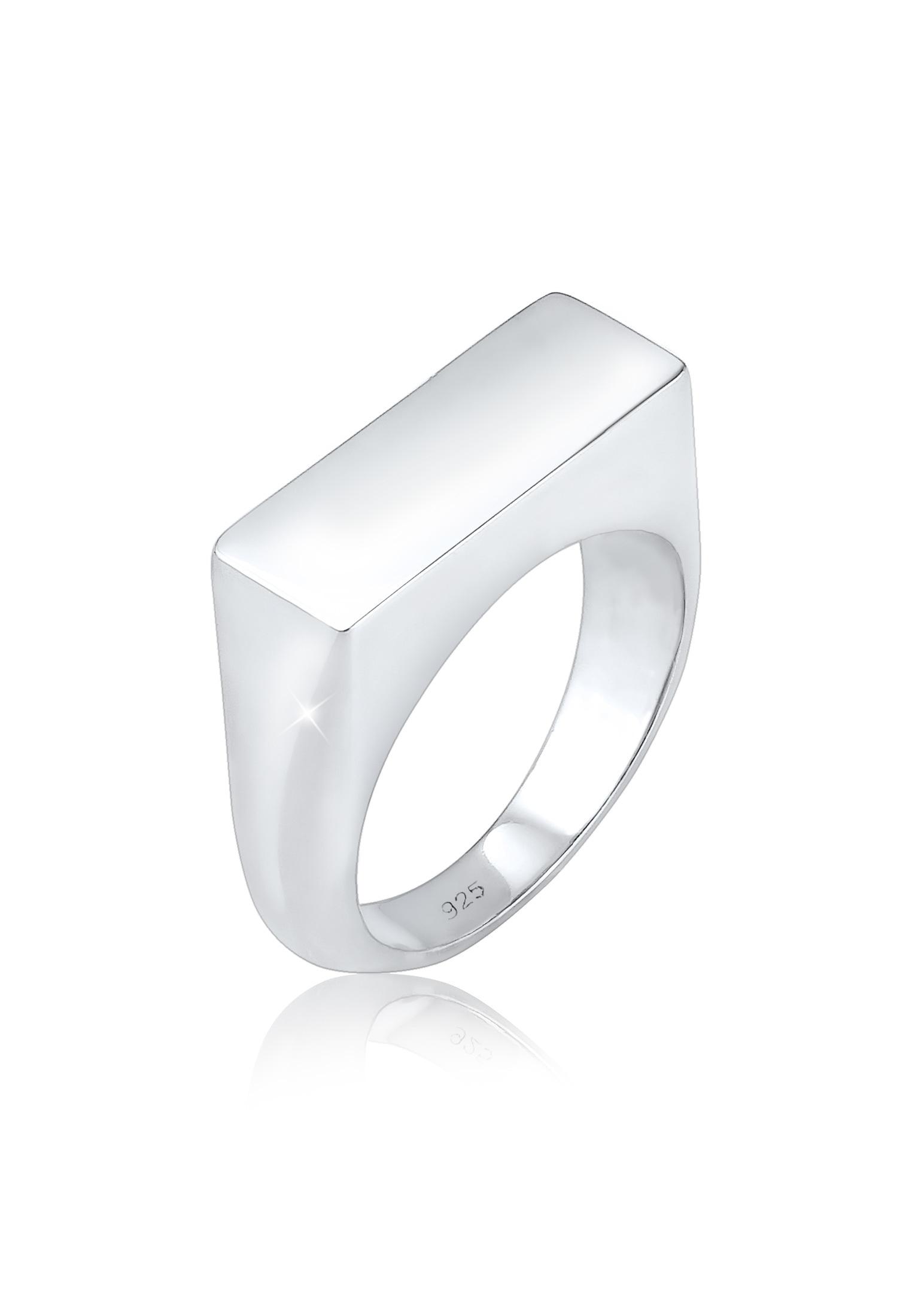 Elli Fingerring Siegelring Matt Schlicht Trend 925 Silber | Schmuck > Ringe > Fingerringe | Elli