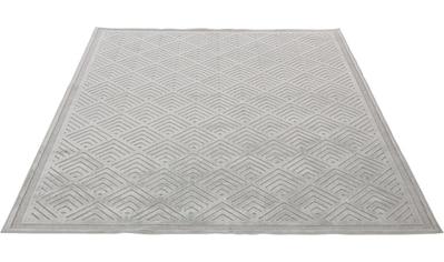 Guido Maria Kretschmer Home&Living Teppich »Liam«, rechteckig, 4 mm Höhe, Seidenglanz mit Hoch-Tief-Effekt, Wohnzimmer kaufen