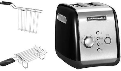KitchenAid Toaster »5KMT221EOB mit Brötchenaufsatz und Sandwichzange«, für 2 Scheiben, 1100 Watt kaufen