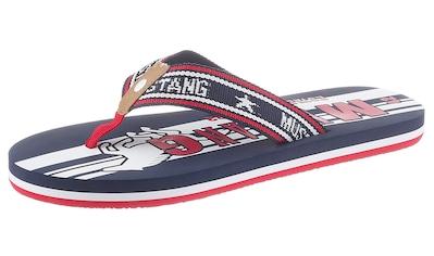 Mustang Shoes Zehentrenner, mit auffälligen Logoschriftzügen kaufen