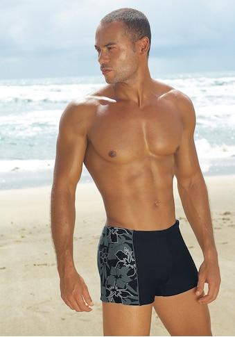s.Oliver Beachwear Boxer-Badehose, mit modischen Kontrasteinsätzen kaufen