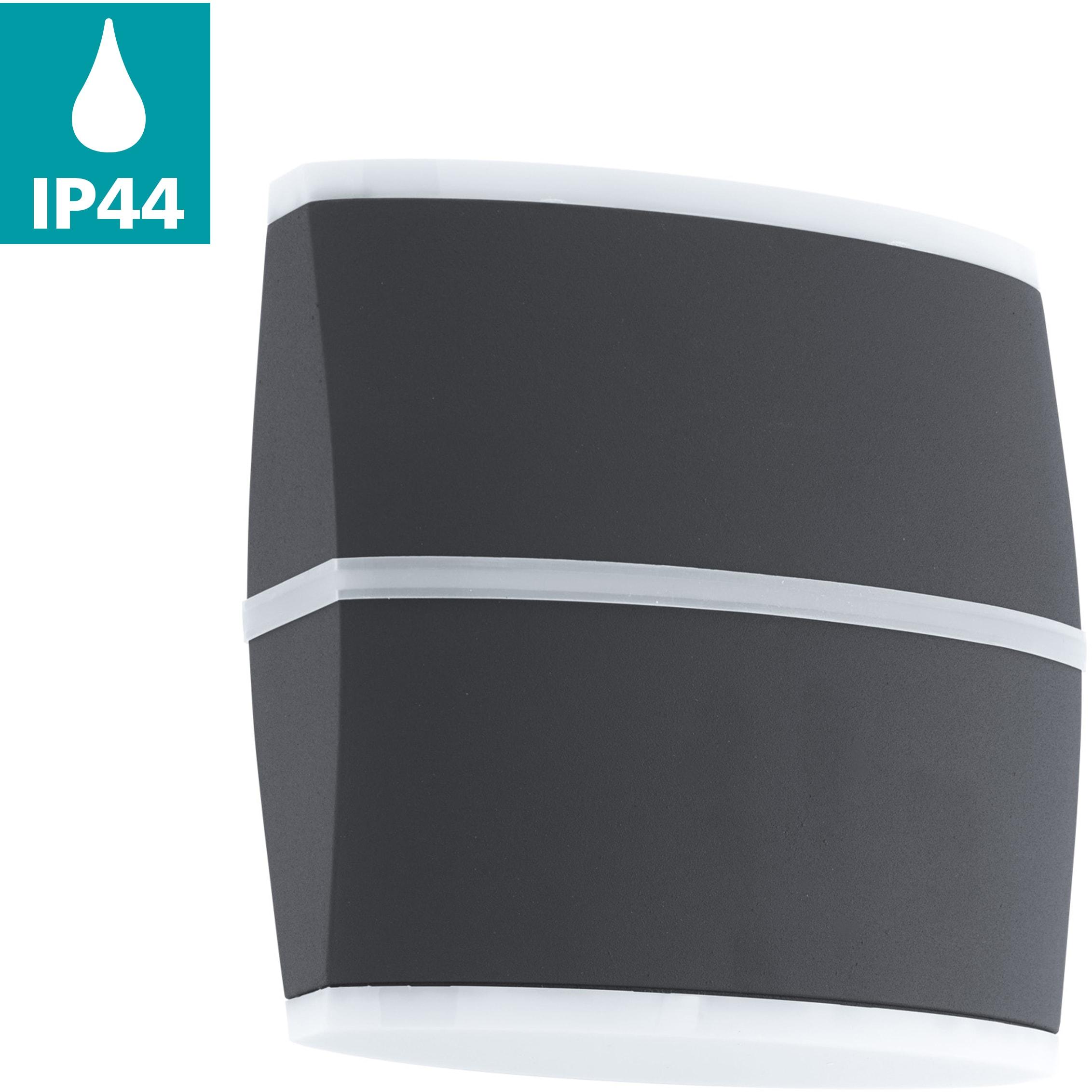 EGLO LED Außen-Wandleuchte PERAFITA, LED-Board, Warmweiß, Eckmontage möglich