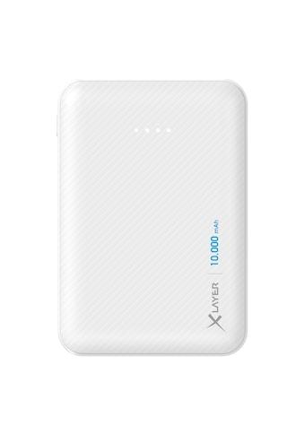 XLAYER Zusatzakku »Powerbank Micro Carbon White 10000mAh Smartphones/« kaufen