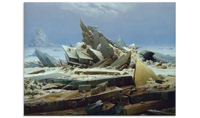 Artland Glasbild »Das Eismeer (Die gescheiterte Hoffnung)«, Gewässer, (1 St.) kaufen