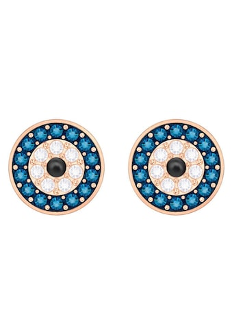 Swarovski Paar Ohrstecker »Duo Evil Eye, mehrfarbig, rosé Vergoldung, 5377720« kaufen