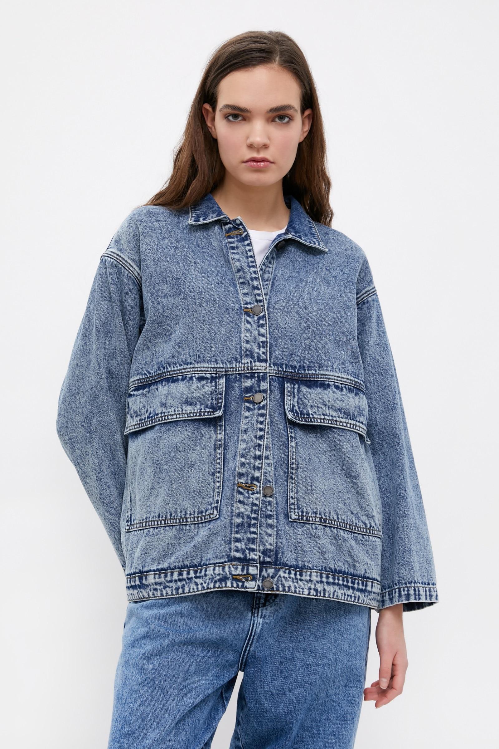 finn flare -  Jeansjacke, mit modischer Waschung