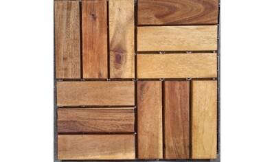 Merxx Holz - Fliesen »Akazie« mit Klick - Verbindung,, Fläche: 3,6 m²/Paket, braun kaufen
