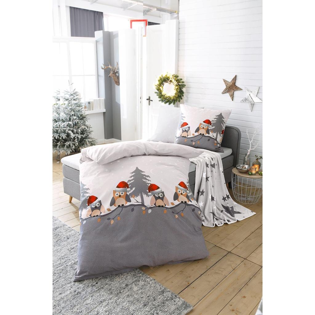 my home Bettwäsche »Enya«, mit kleinen Eulen