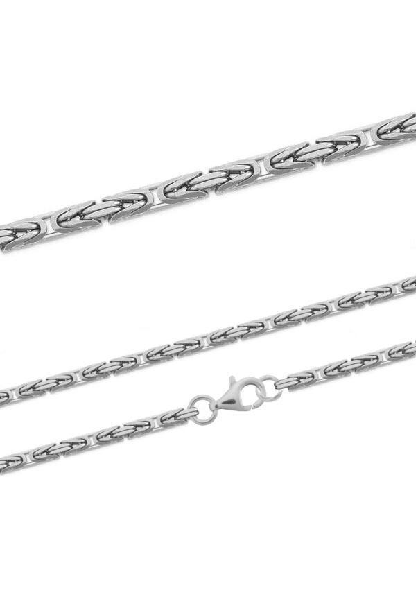 Firetti Silberkette Königskette glanz rhodiniert diamantiert massiv | Schmuck > Halsketten | Firetti