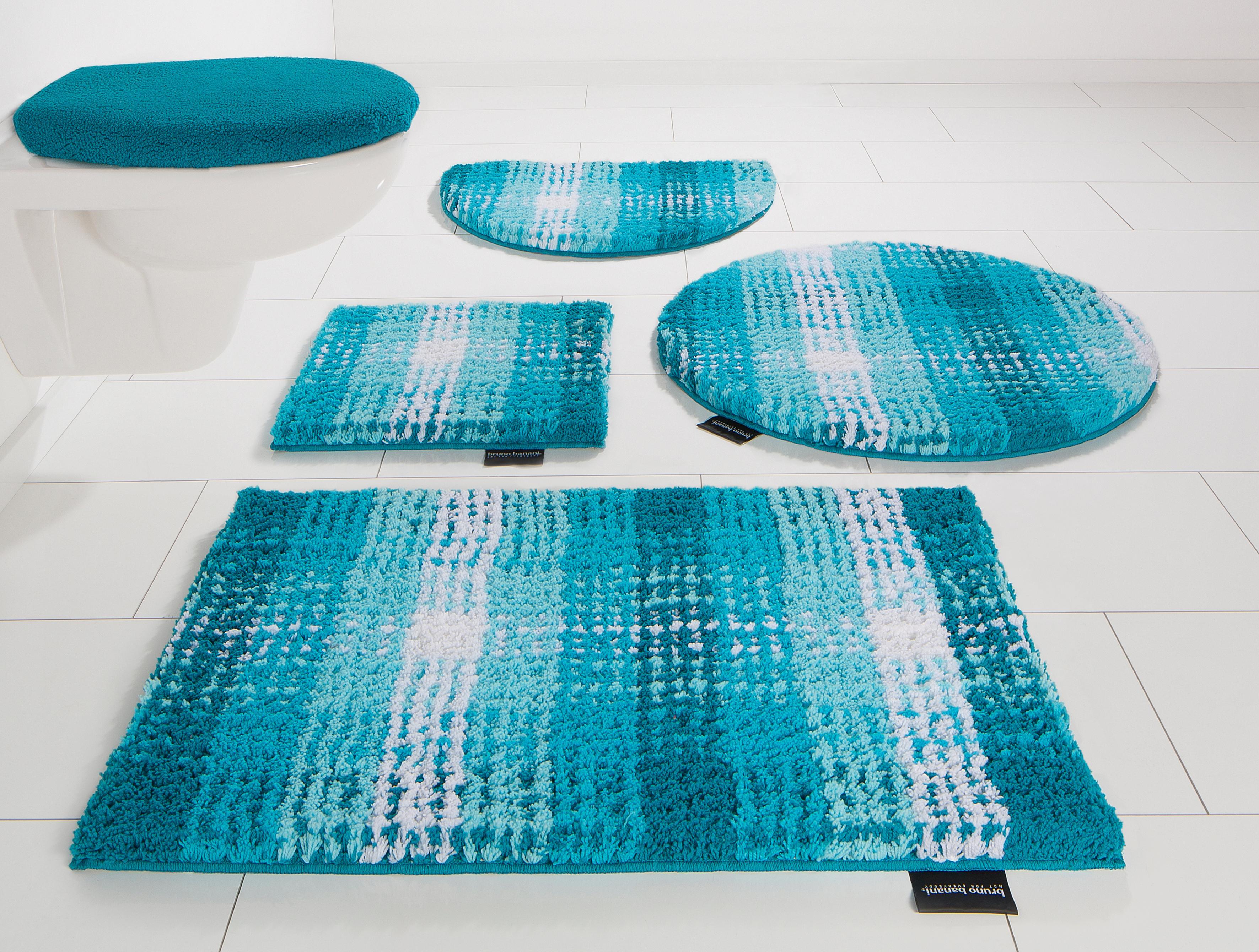 Badematte Kyros Höhe 25 mm rutschhemmend beschichtet Bruno Banani blau 1 (quadratisch 45x45 cm),2 (rechteckig 50x80 cm),3 (rechteckig 60x100 cm),4 (rechteckig 70x139 cm),5 (rechteckig 80x150 cm),6 (rechteckig 90x160 cm)
