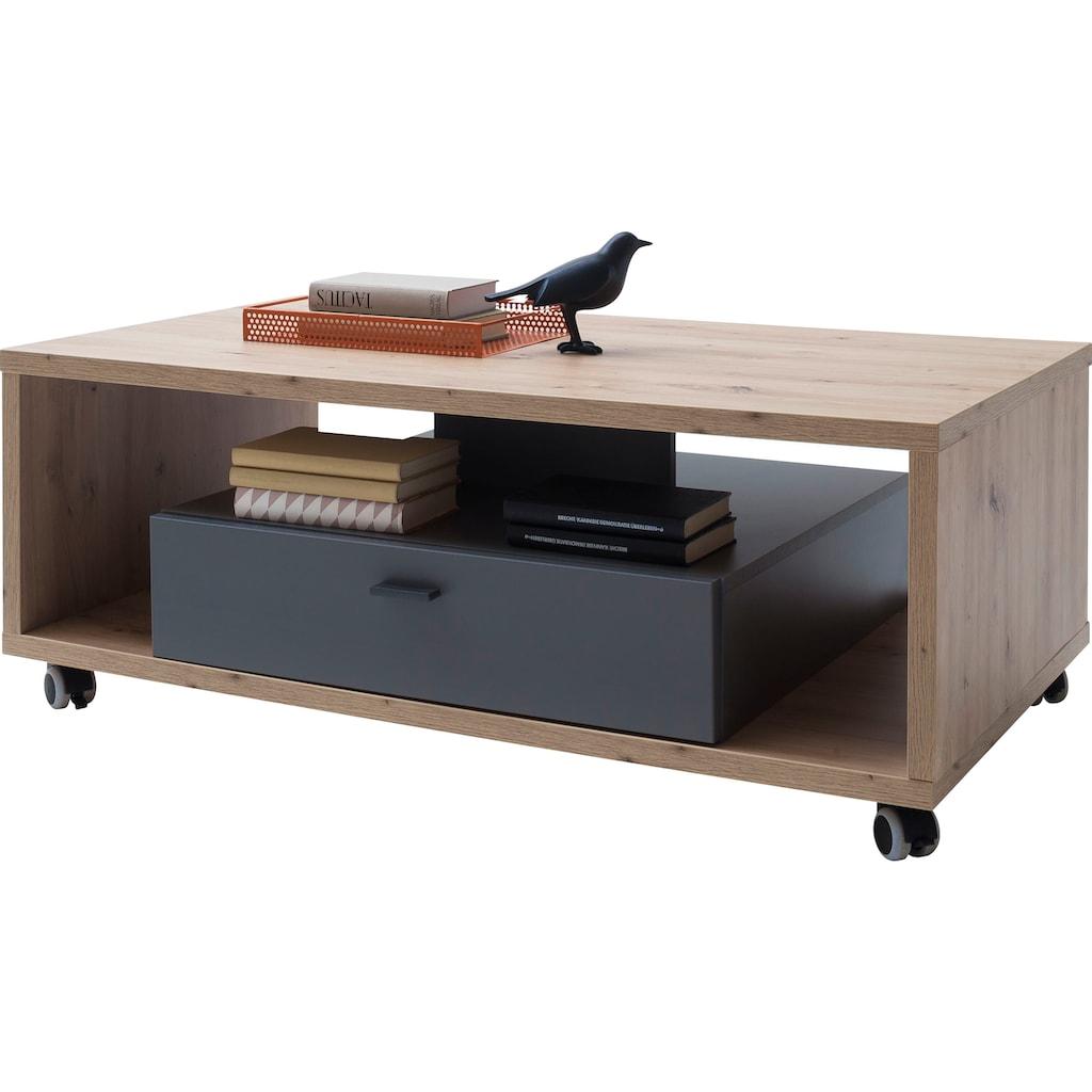 MCA furniture Couchtisch »Lizzano«, Landhausstil modern, Wohnzimmertisch bis 50 Kg belastbar, Tisch 115 cm breit