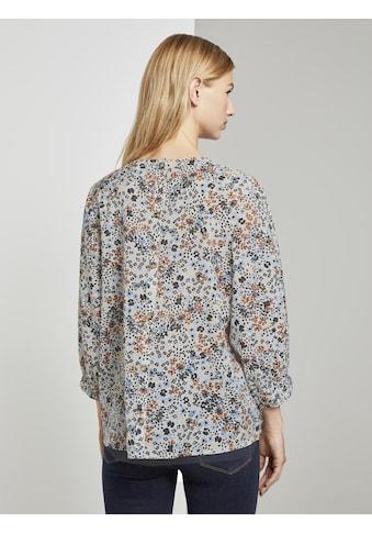 TOM TAILOR Denim Langarmbluse »Verspielte Bluse mit Blumenprint« kaufen
