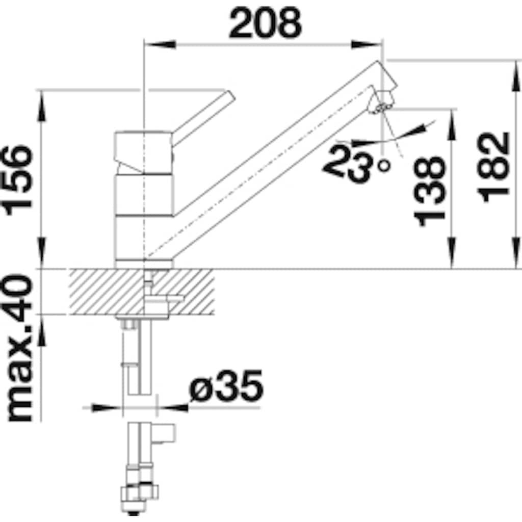 Blanco Küchenarmatur »ANTAS«, Niederdruck