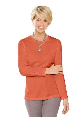 Classic Basics Shirt mit Zierknopfleiste an beiden Ärmeln kaufen