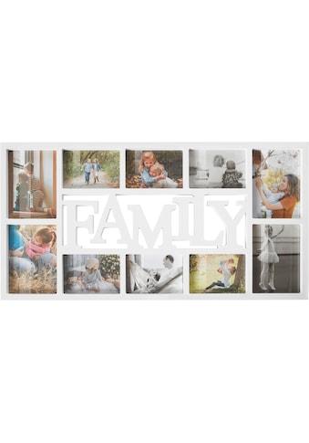 Home affaire Bilderrahmen Collage »FAMILY«, für 10 Bilder, Fotorahmen, mit Schriftzug,... kaufen