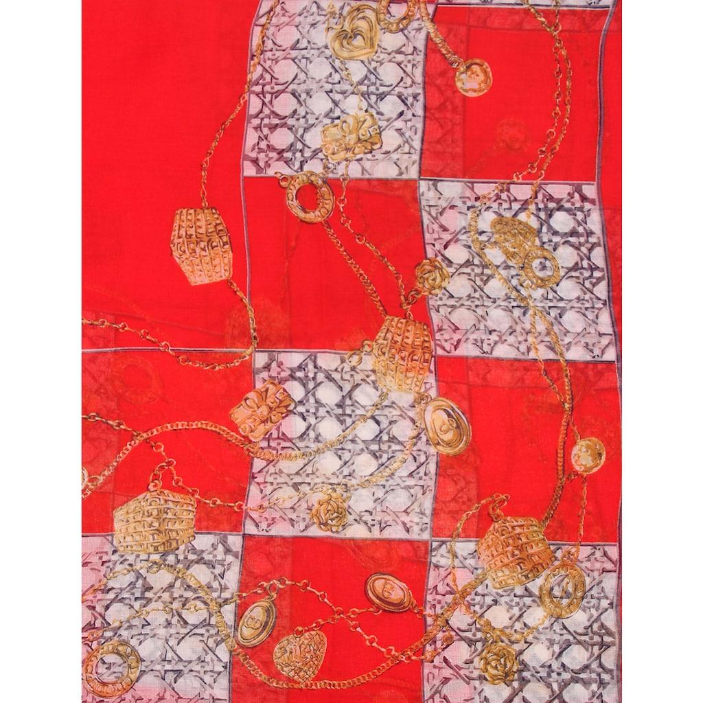 leslii Schal, mit goldenem Ketten-Print