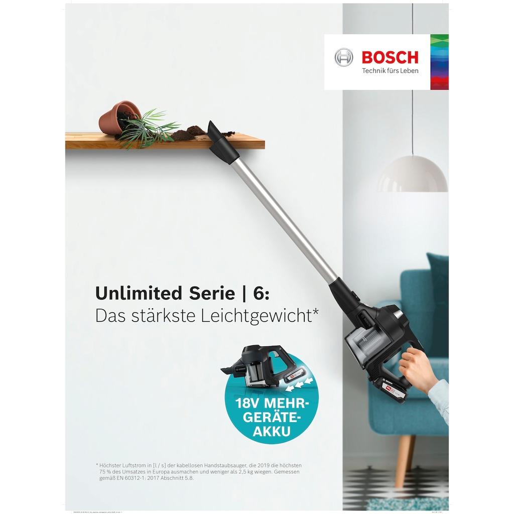 BOSCH Akku-Handstaubsauger »Unlimited BKS611MTB«, besonders leicht - nur 2,3 kg schwer