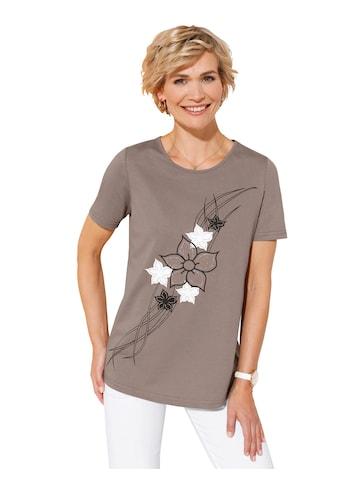 Classic Basics Shirt mit platziertem Blumendruck kaufen