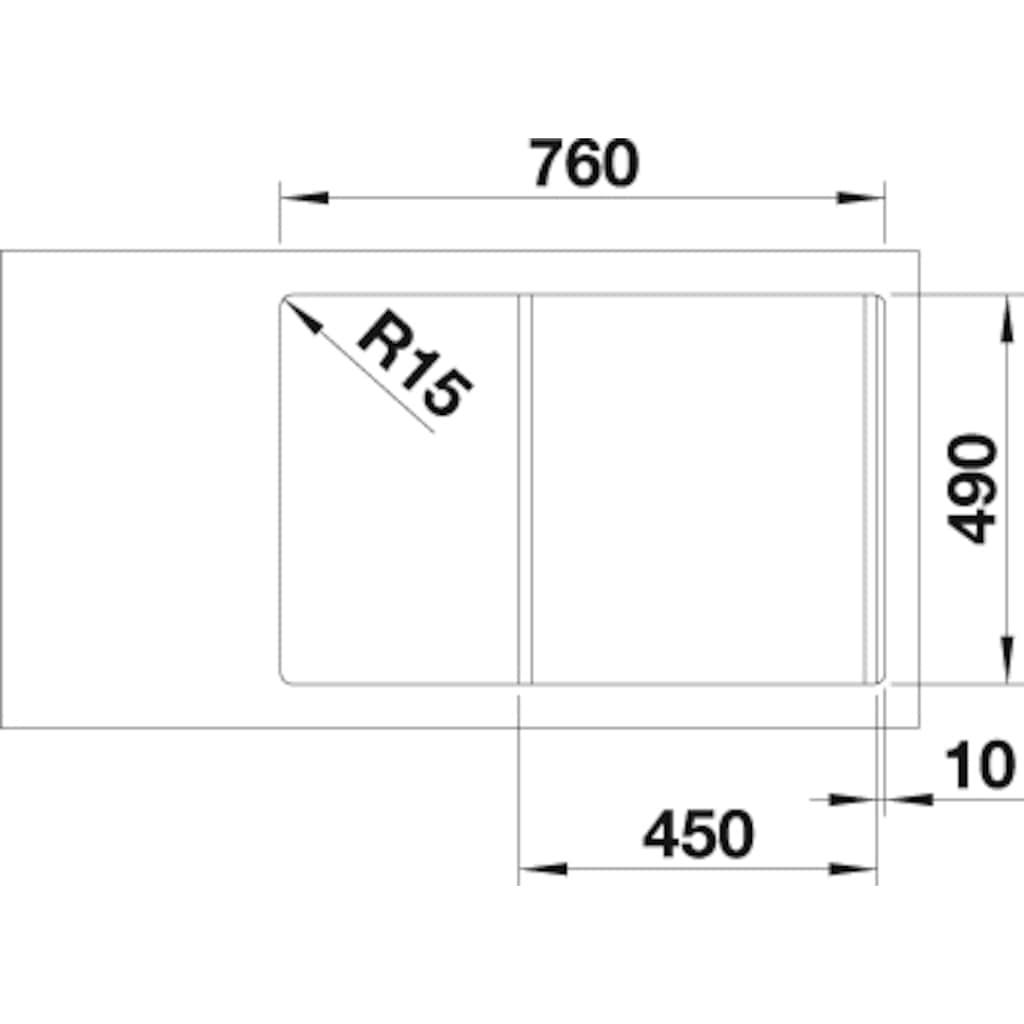 Blanco Granitspüle »AXIA III 45 S«, aus SILGRANIT®