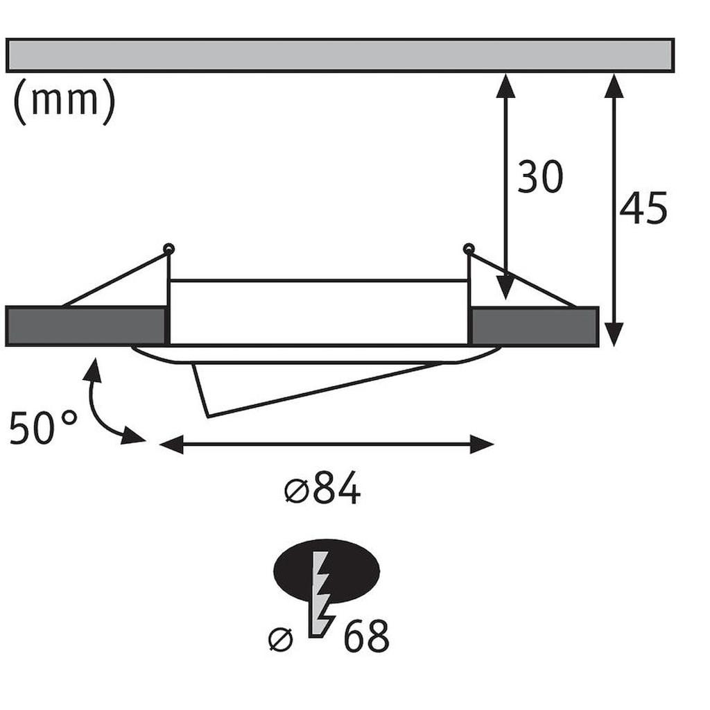 Paulmann LED Einbaustrahler »dimmbar IP23 rund Weiß Coin Slim 6,8W schwenkbar«, 3 St., Warmweiß