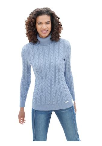 Pullover im schön gestalteten Zopfmuster vorne und an den Ärmeln kaufen