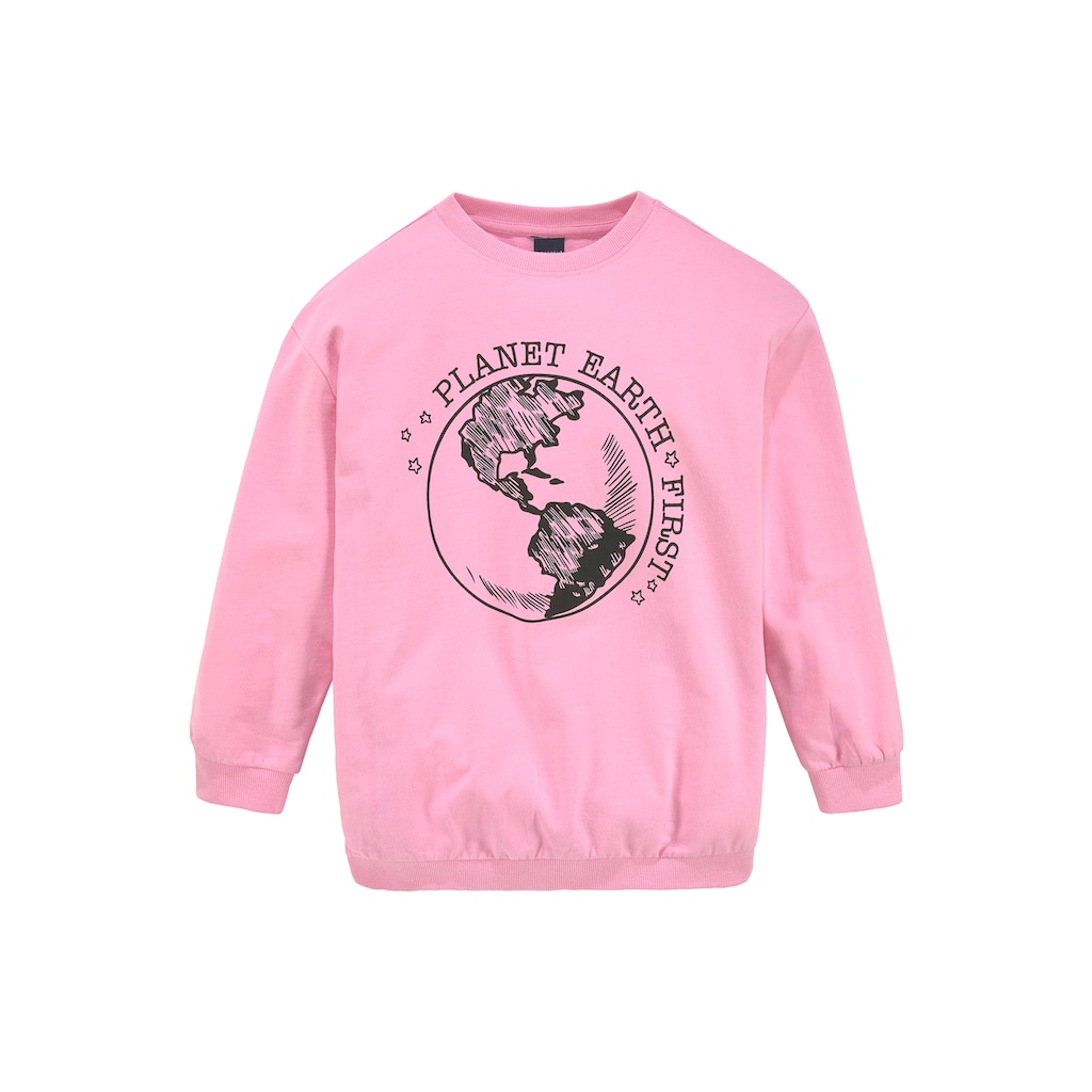 Arizona Sweatshirt »PLANET  EARTH  FIRST«, in extra weiter Form