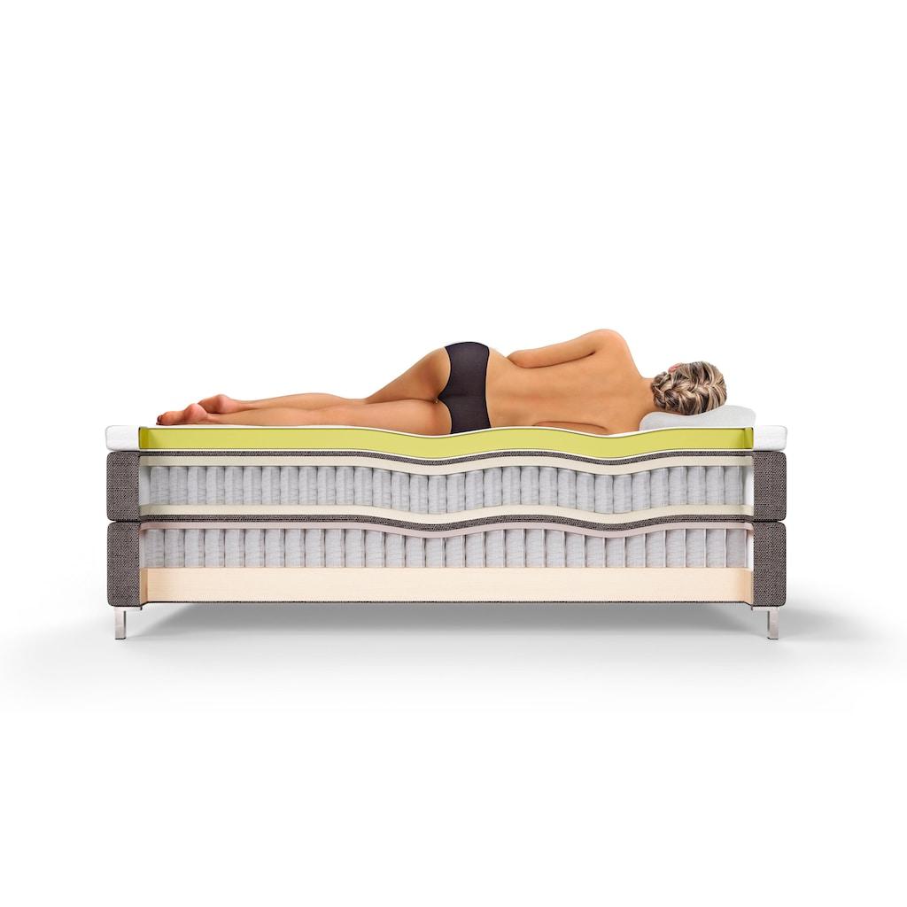 Schlaraffia Boxspringbett »Aida Komfort«, inkl. GELTEX®-Topper, Fuß in Schwebeoptik