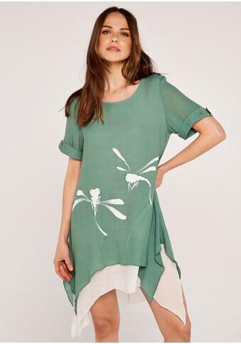 Apricot Shirtkleid »Dragonfly Slub Shimmer Tunic«, im Lagenlook kaufen