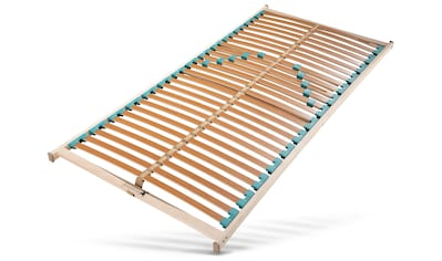 Älgdröm Lattenrost »Tyrifjord«, 28 Leisten, Kopfteil nicht verstellbar, Perfektes Einstiegs-Modell mit 28 Federholzleisten, stabilisierendem Mittelgurt und 5-fach Härtegradregulierung kaufen