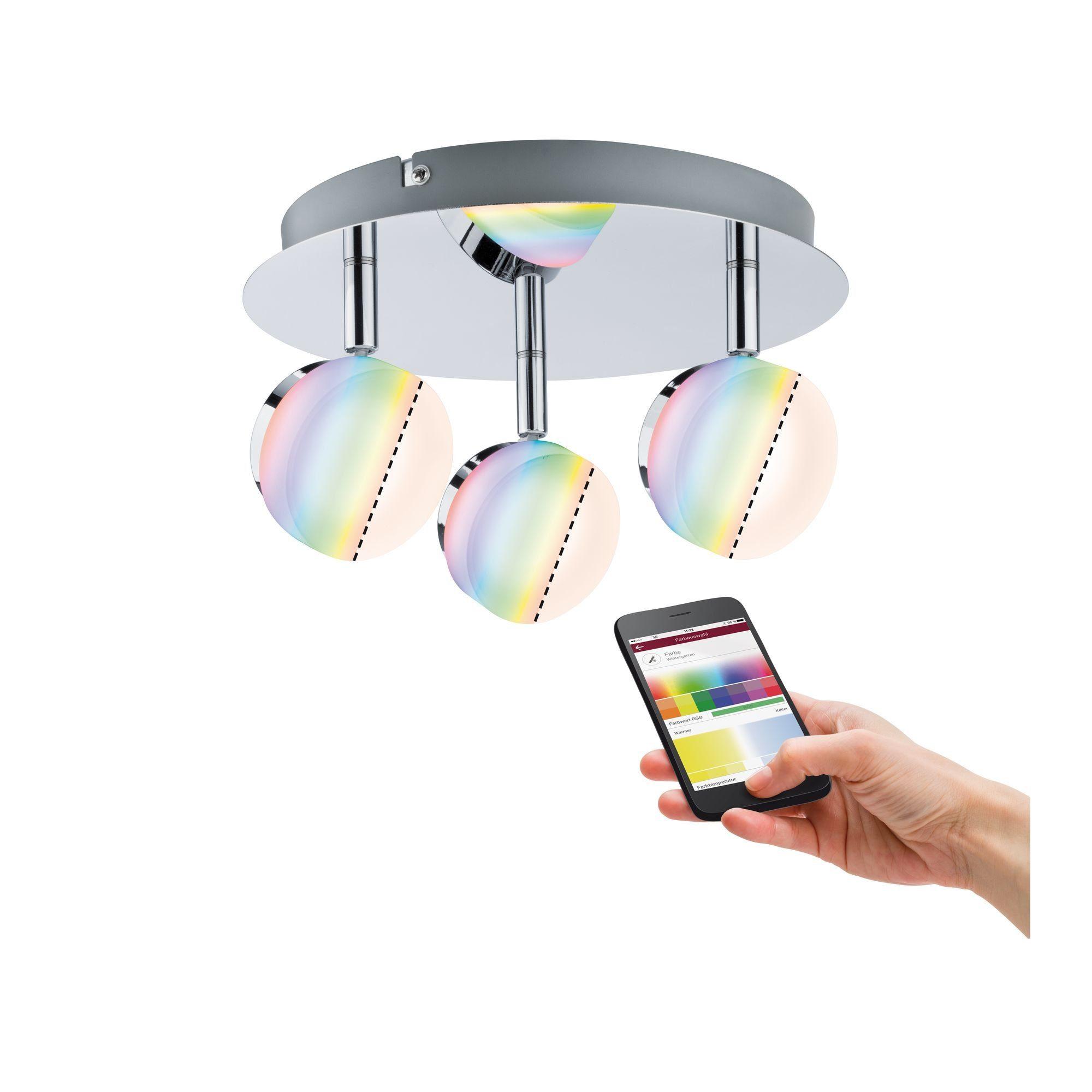 Paulmann,LED Deckenstrahler Spot Iro RGBW Chrom smart