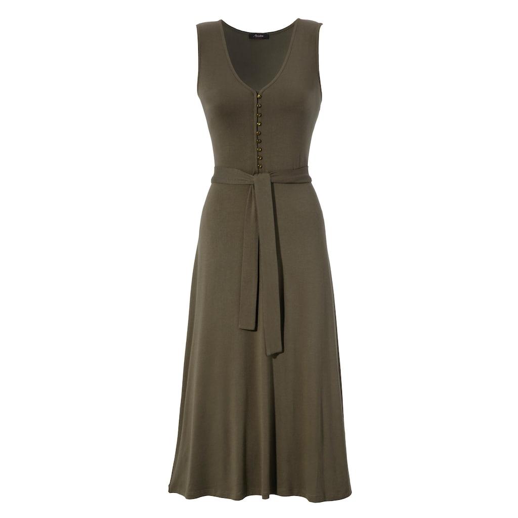 Aniston CASUAL Sommerkleid, unifarben oder mit farbenfrohem Druck - du hast die Wahl