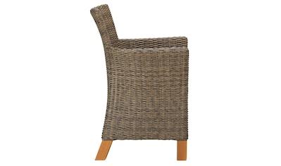 MERXX Gartensessel »Toskana«, (2er Set), Polyrattan/Akazienholz, inkl. Auflage kaufen