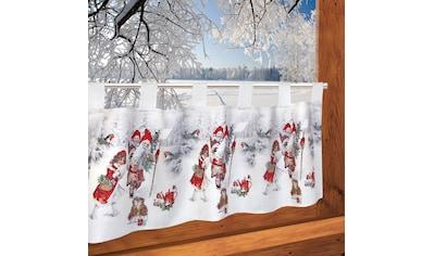 Scheibengardine, »Weihnachtsengel«, Delindo Lifestyle, Schlaufen 1 Stück kaufen