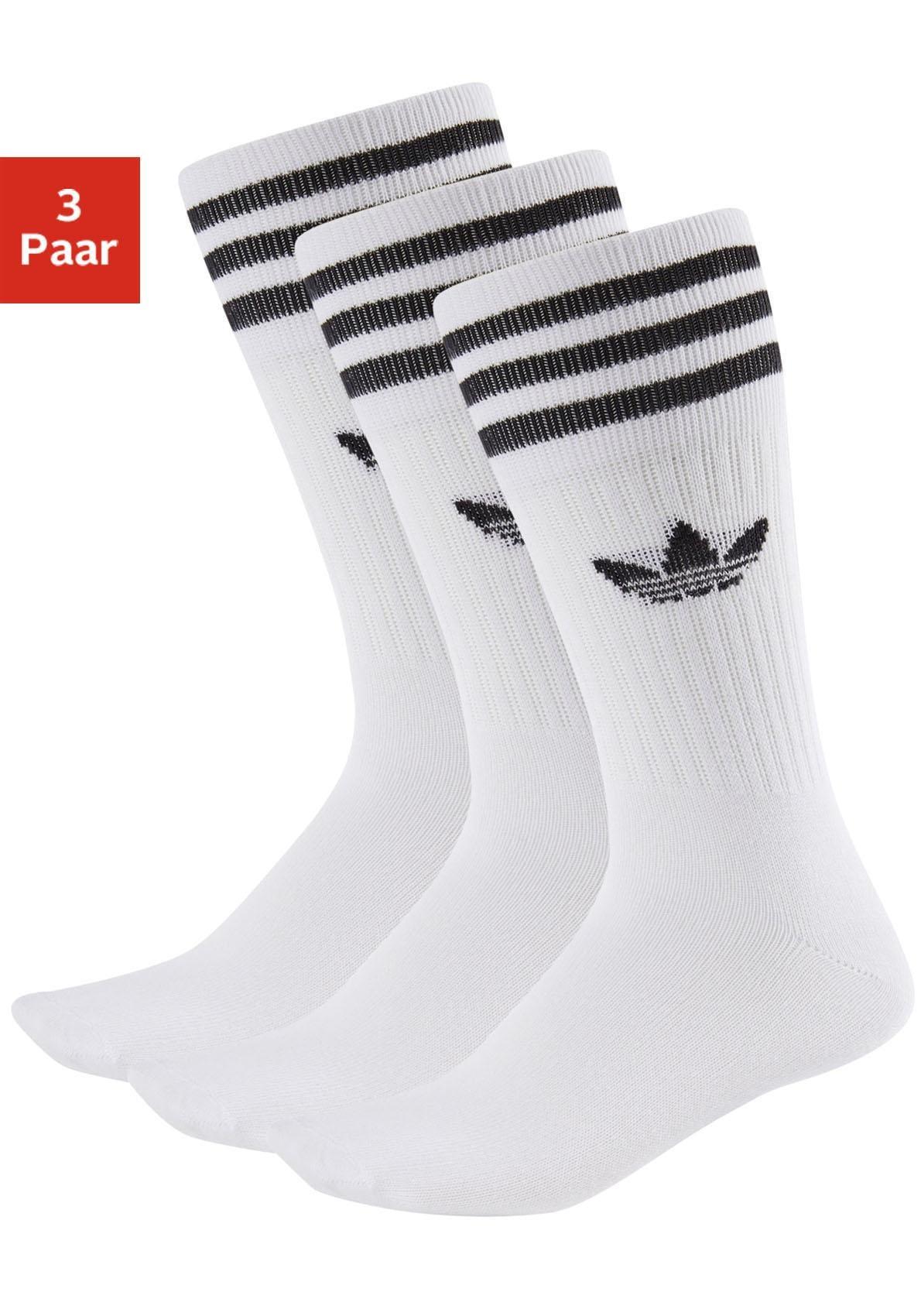 adidas Originals Tennissocken (3 Paar) mit Streifen am Bund im Preisvergleich