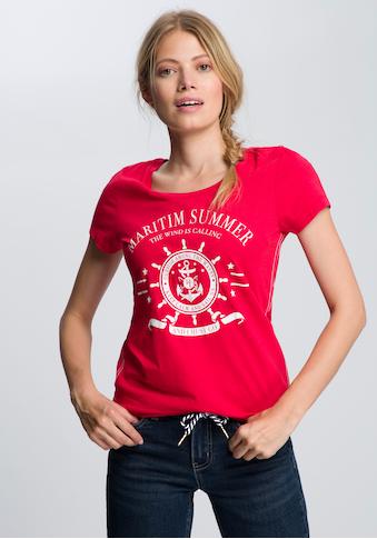 TOM TAILOR Polo Team T-Shirt, mit großem Front-Print kaufen