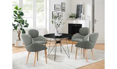 COUCH♥ Esszimmerstuhl »Komfortzone«, Beine aus Massivholz, in 4 Farben erhältlich kaufen