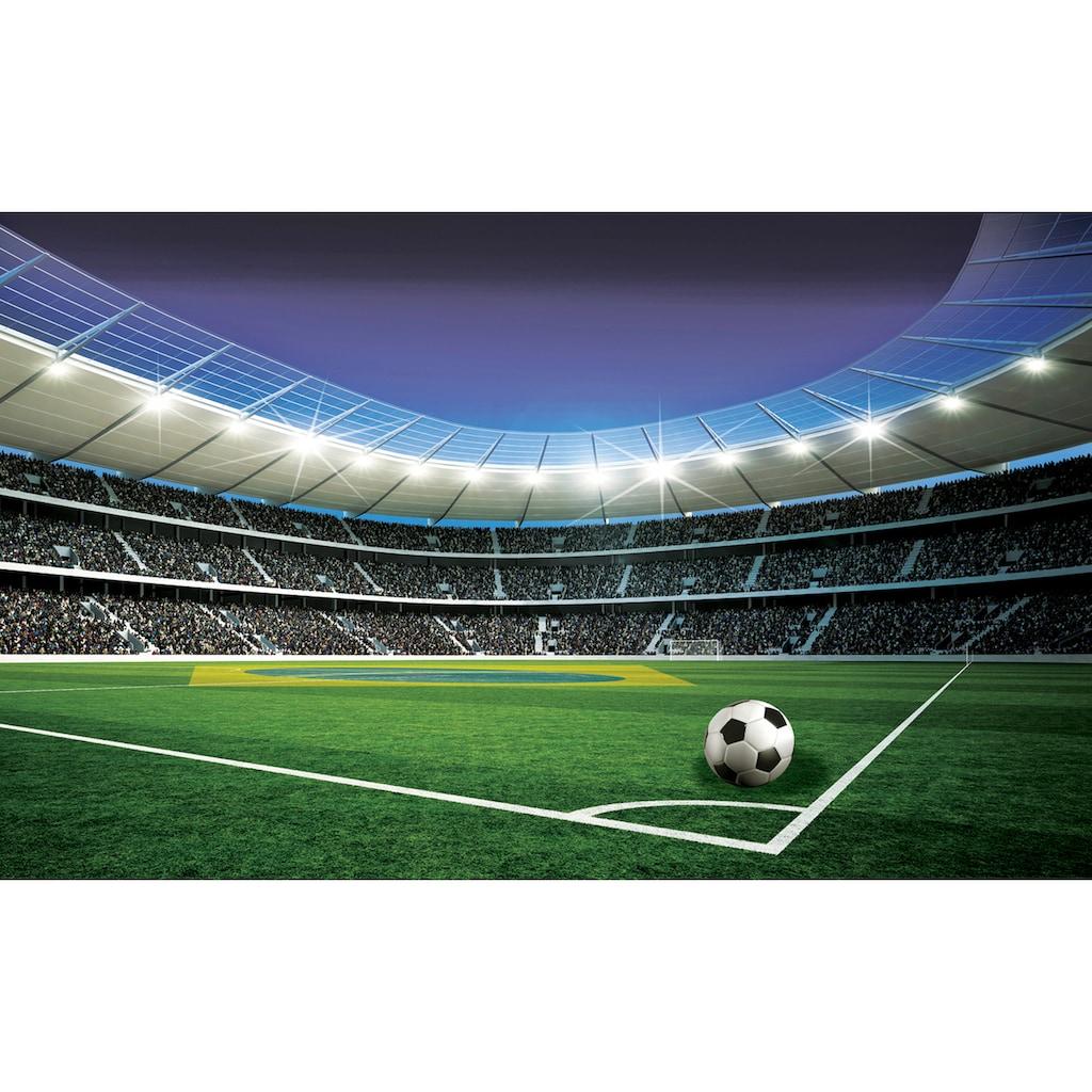 Consalnet Fototapete »Fußballplatz Stadion«, Motiv