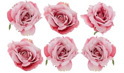 """Weihnachtsbaumklammer """"Rosen"""" (6 - teilig) kaufen"""