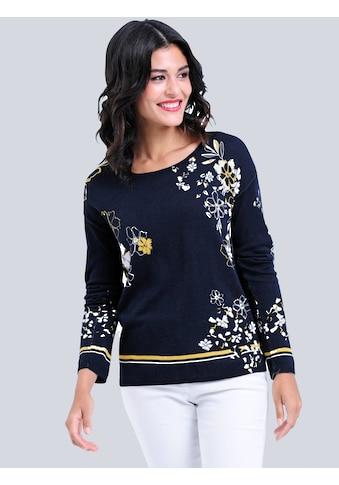 Alba Moda Pullover allover im Blumendessin kaufen